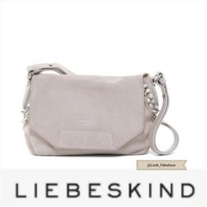 NWT LIEBESKIND GRAY ADJUSTABLE STUDDED LEATHER BAG